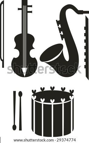Image. Music set - stock photo