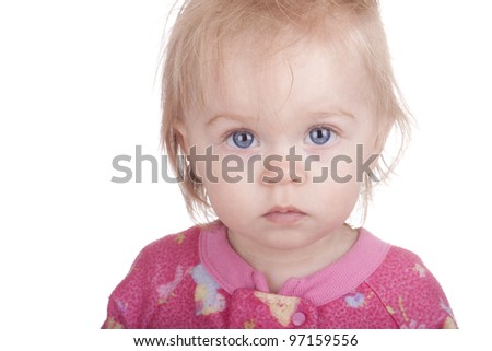 Image of a baby taking a coffee break. - stock photo