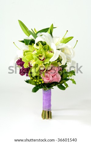 Image of a beautiful colorful floral bouquet - stock photo