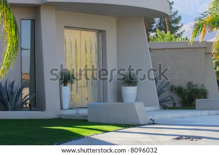 Image of a beautiful desert home in California
