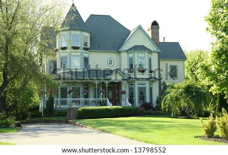 image of a beautiful home - stock photo