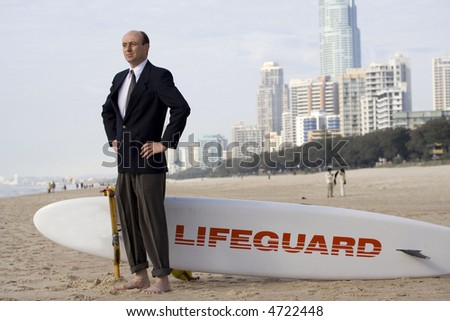 Image of a business lifeguard - stock photo