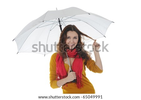 Image of a businessman with umbrella