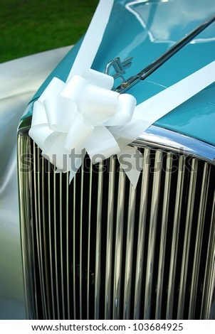 Image of a car wedding decoration - stock photo