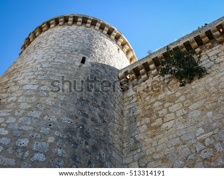 Image of a Castle at Torrelobaton,  Valladolid, Castilla y Leon, Spain