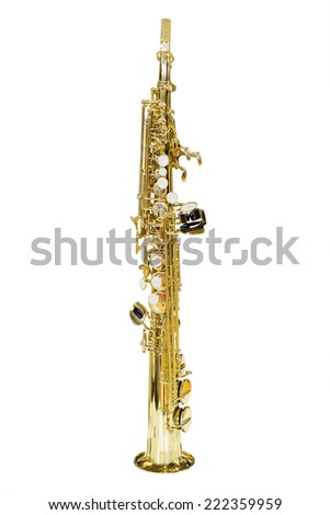 image of a clarinet isolated under the white background - stock photo