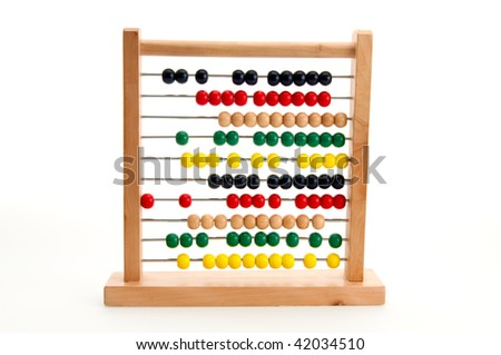 Image of a colorful abacus used to learn mathematics.