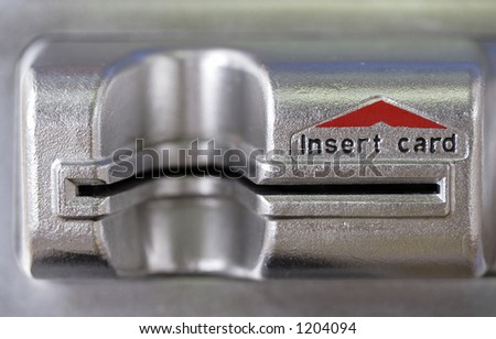Image of a credit card slot - stock photo