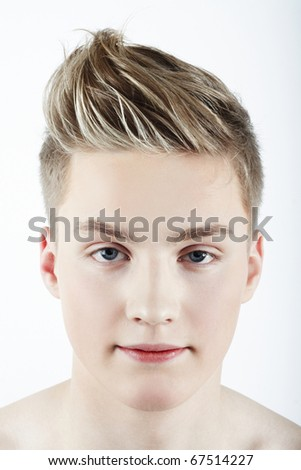 Image of a cute young male isolated over white background - stock photo