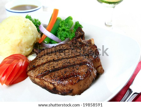 image of a delicious pork chop meal