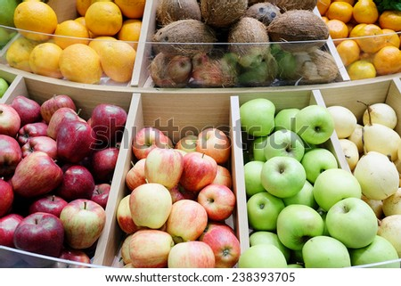 image of a different fruits - stock photo