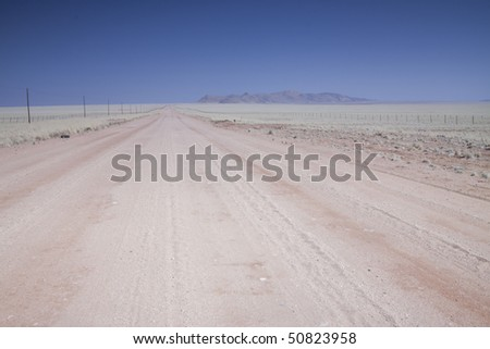 Image of a dirt road in the Namibian Desert