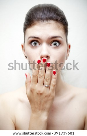 image of a fashion girl - stock photo