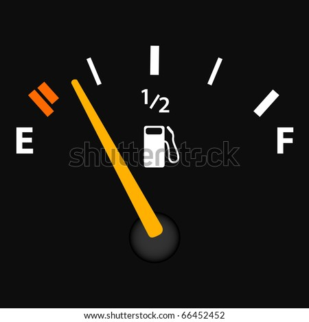 Image of a gas gage isolated on a dark background. - stock photo
