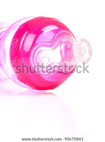 Image of a generic baby bottle or sippy cup. - stock photo