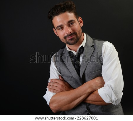 Image of a Handsome Italian Man - stock photo