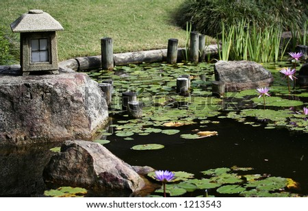 Image of a Japanese garden - stock photo