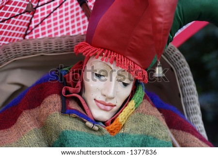 Image of a jester - stock photo