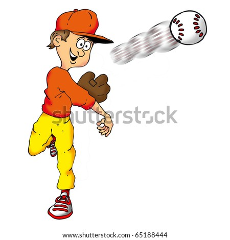 Image of a kid throwing a mean fastball.