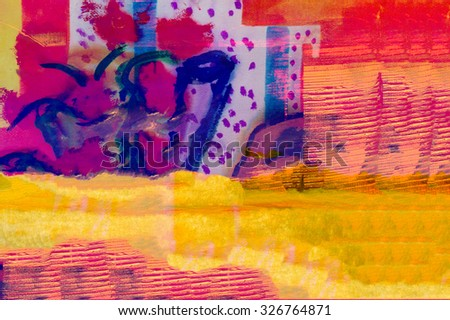 Image of a Large scale Abstract painting On Canvas