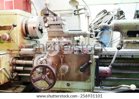Image of a lathe machine  - stock photo