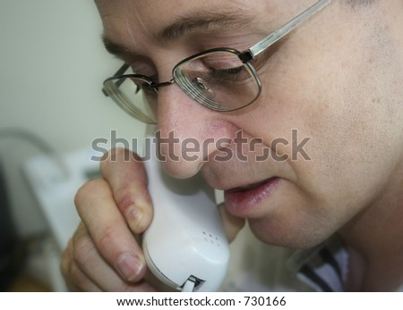 Image of a man on the phone - stock photo