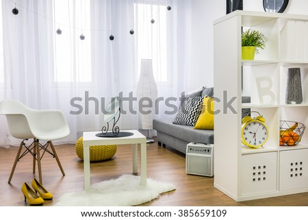 Image of a modern living room - stock photo