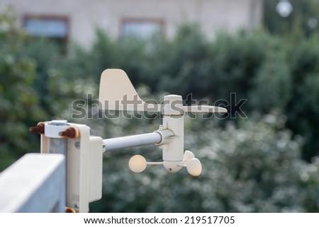 Image of a mounted garden weather vane - stock photo