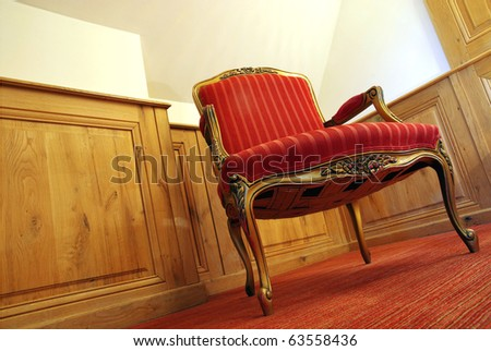 Image of a nice ancient room with antique furniture. - stock photo
