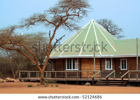 Image of a nice safari lodge in Africa. - stock photo