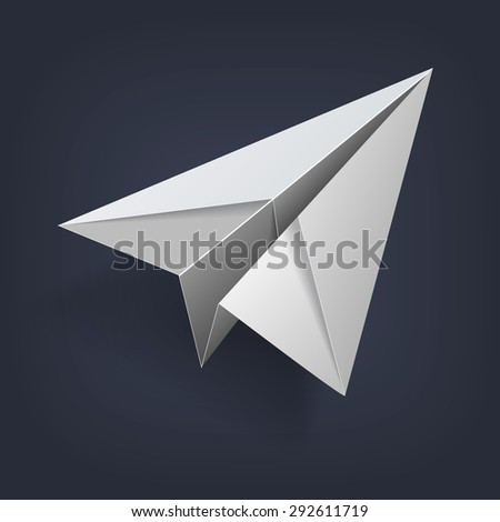 image of a paper plane in 4 projections