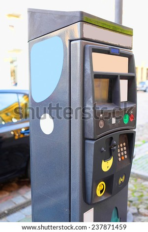 image of a Parking machine - stock photo