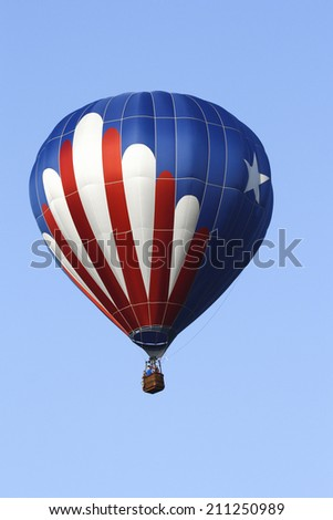 Image of a Patriotic Hot Air Balloon - stock photo
