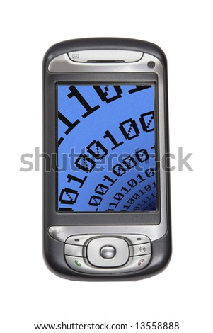 image of a pda technology device - stock photo