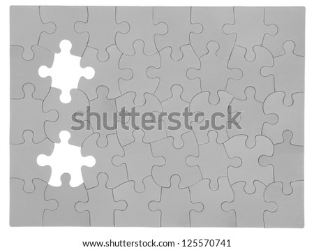 Image of a puzzle in a cardboard