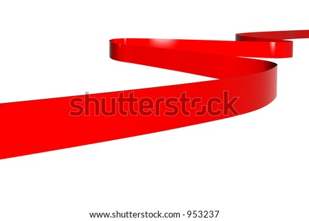 image of a red ribbon as background - stock photo