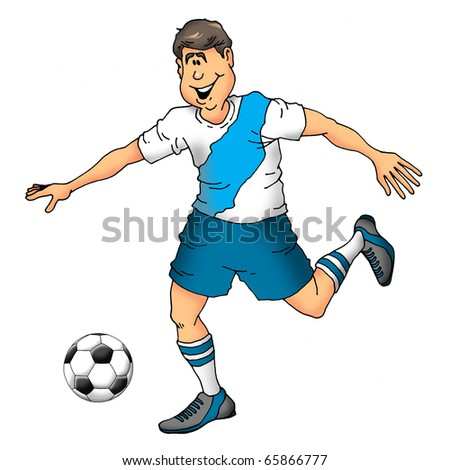 Image of a soccer player about to make a play.