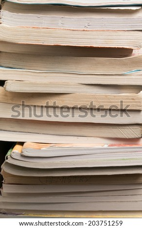 image of a stack of books - stock photo