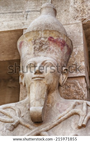 Image of a statue of queen Hatshepsut, in Luxor, Egypt.  - stock photo