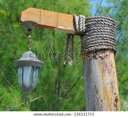 Image of a street light on a city street - stock photo