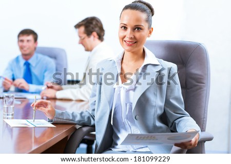 image of a successful beautiful business woman
