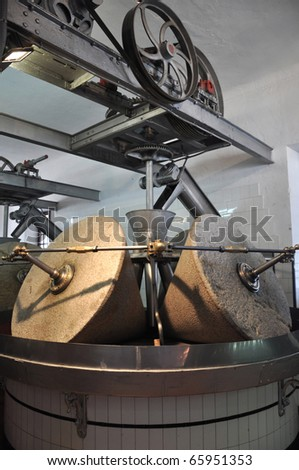 Image of a typical olive oil press. - stock photo