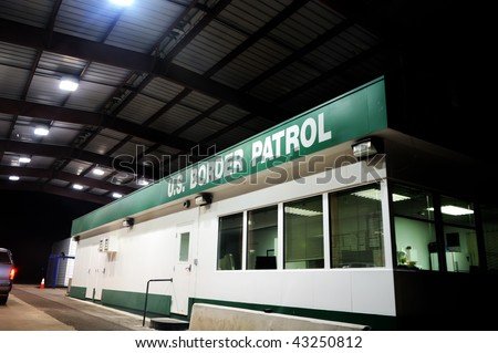 Image of a US border patrol building - stock photo