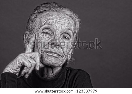 Image of a very confident Elderly Woman - stock photo