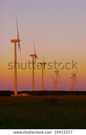 Image of a wind turbines used to generate electricity