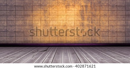 Image of a wooden floor against image of a wall