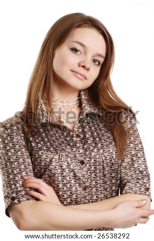 Image of a young girl with hands clasped together