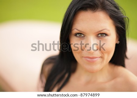 Image of a young woman smiling