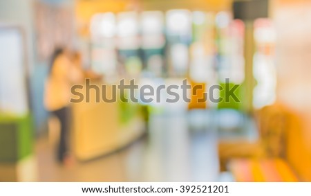 image of Abstract blur hotel lobby for background usage . - stock photo