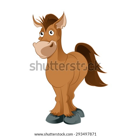 Image of an brown Cartoon horse